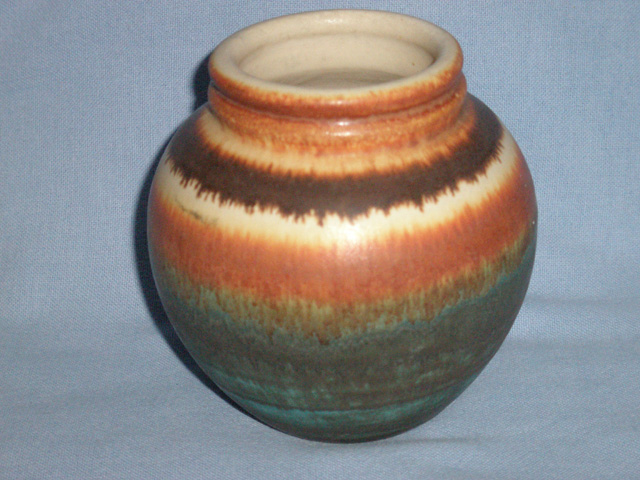 Multicoloured Continental Pottery Vase