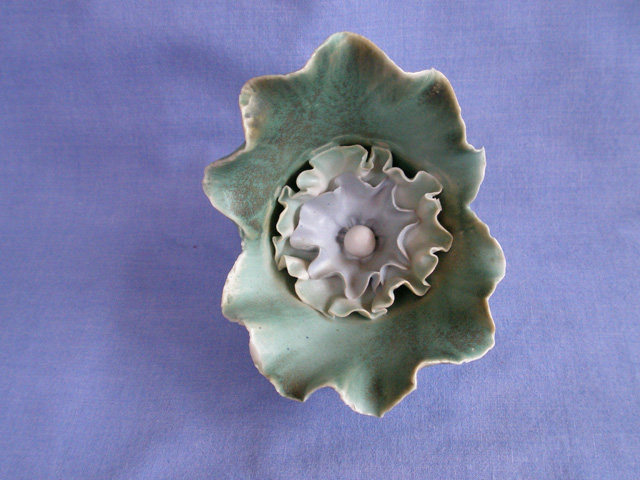 Isle Of Wight Chessell Pottery Poppy Flower