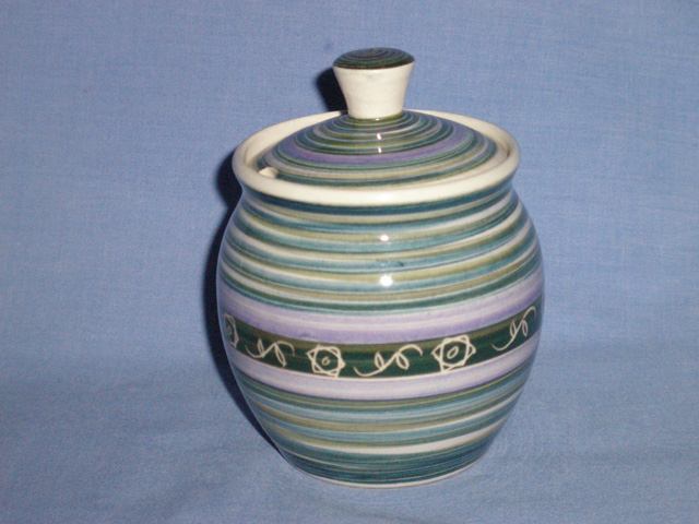 Rare Jo Lester / Ken Scotcher Totland Pottery Preserve Pot