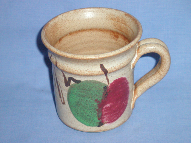 Stoneware Apple Design Studio Pottery Mug