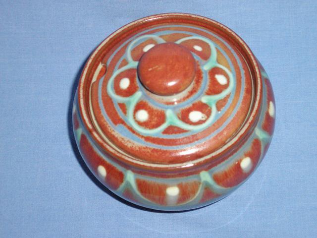Slipware Decorated Studio Pottery Preserve Pot