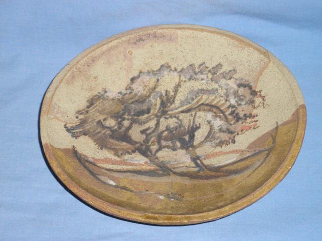 Stoneware Hawthorns on the Downs Dish