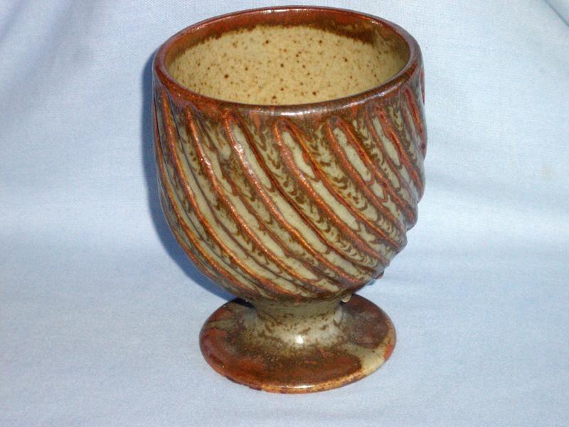 Aylesford, The Friars Pottery, Large Stoneware Goblet / Vase