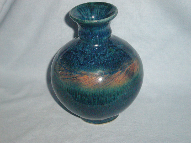 Nicholas Casey Chester Studio Pottery Blue Vase