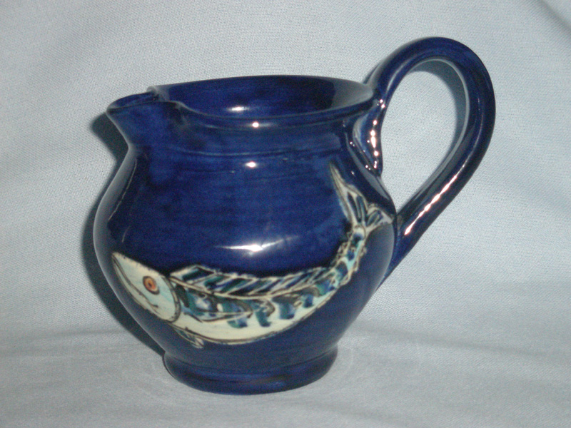 Peter O'Neil Cornish Marazion Studio Pottery Fish Jug