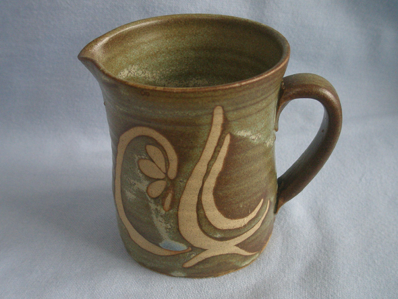 Martin Gilchrist Bembridge Studio Pottery Wax Resist Jug