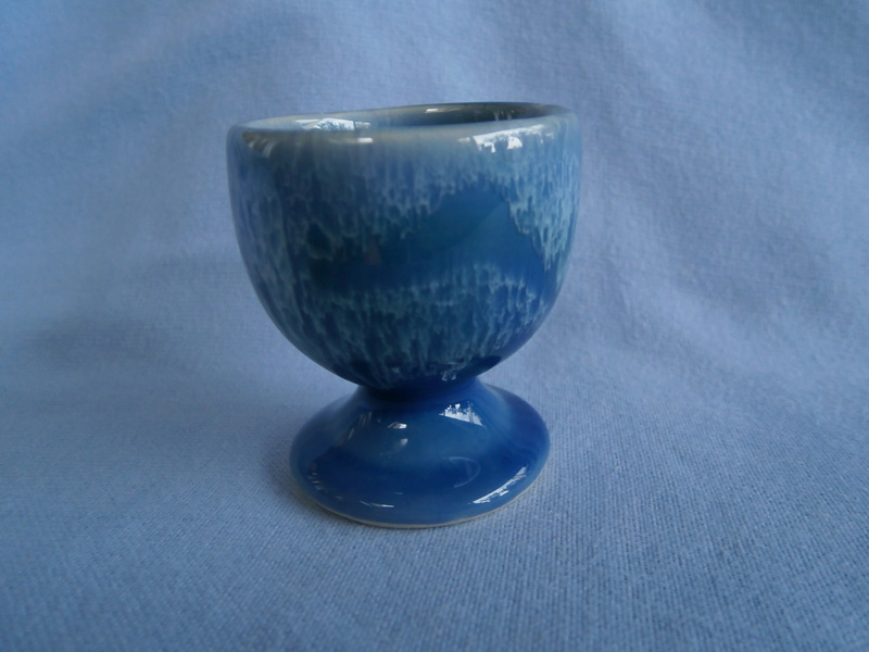 Cornish Lamorna Studio Pottery Blue Egg Cup