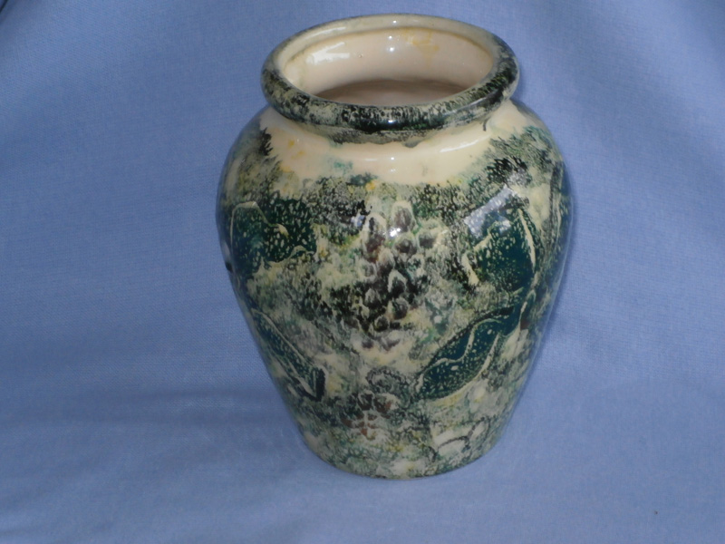 Richard Rose Sponge Ware Studio Pottery Vase