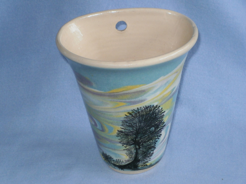 Cornish Boscastle Studio Pottery Mocha Ware Wall Pocket