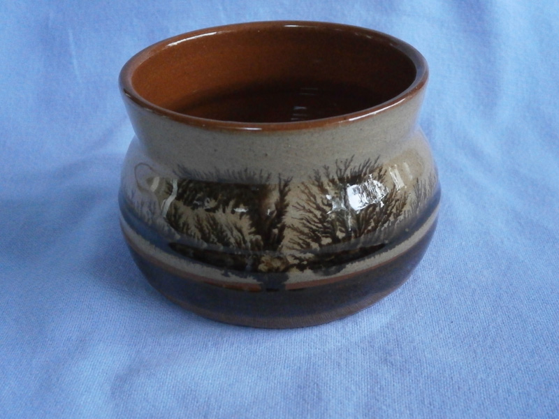 South Cerney Studio Pottery Gloucestershire Mocha Wear Sugar Bowl