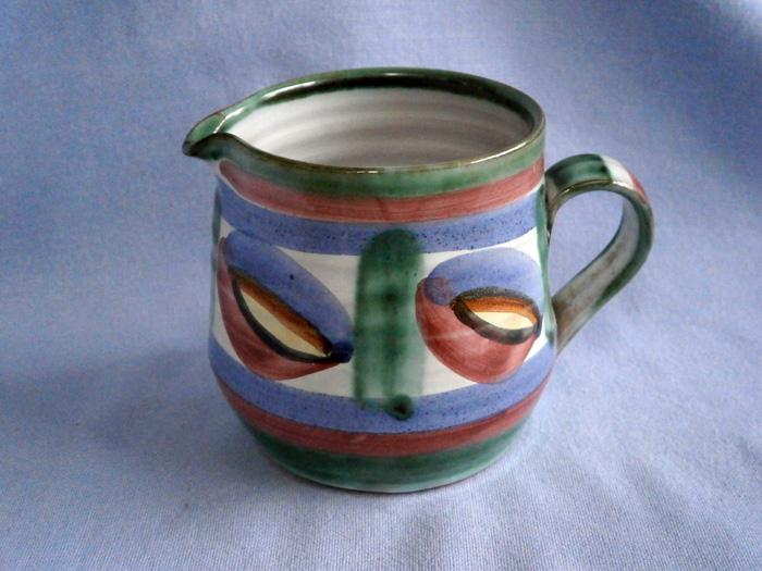 Cornish Tintagel Studio Pottery Dragon's Eye Milk Jug