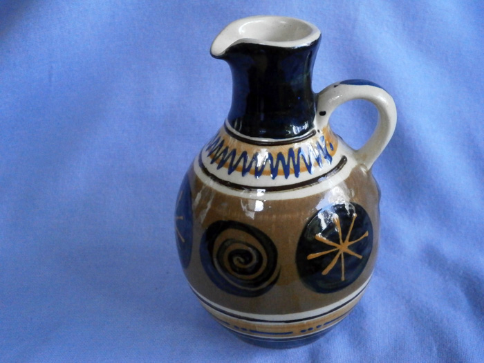 Stuart Bass Exmoor Studio Pottery Slipware Vinegar / Oil Jug