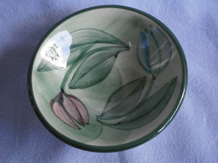 Jersey Studio Pottery Floral Pin Dish