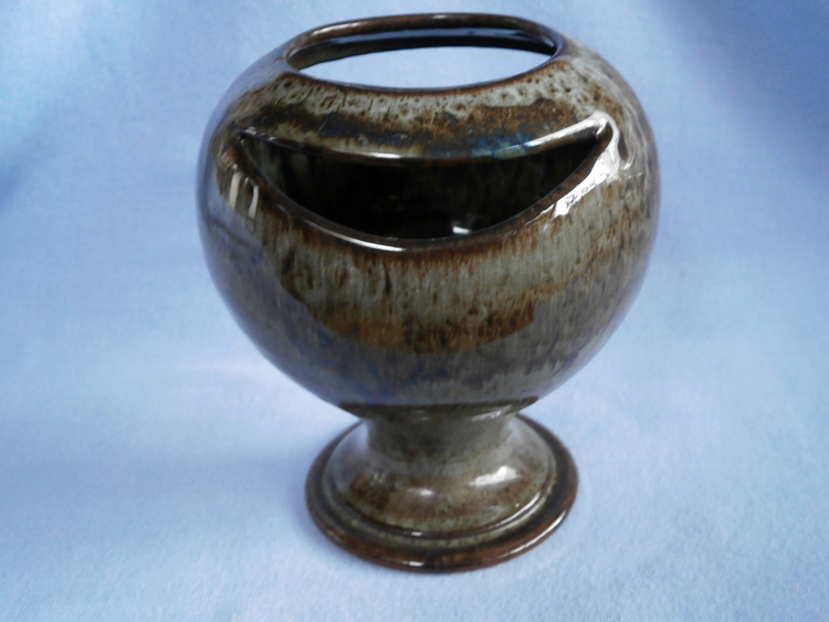 Cornish Bolingey Perranporth Stemmed Studio Pottery Vase