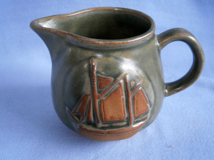 Cornish Country Craft Potteries Studio Pottery Boat Jug