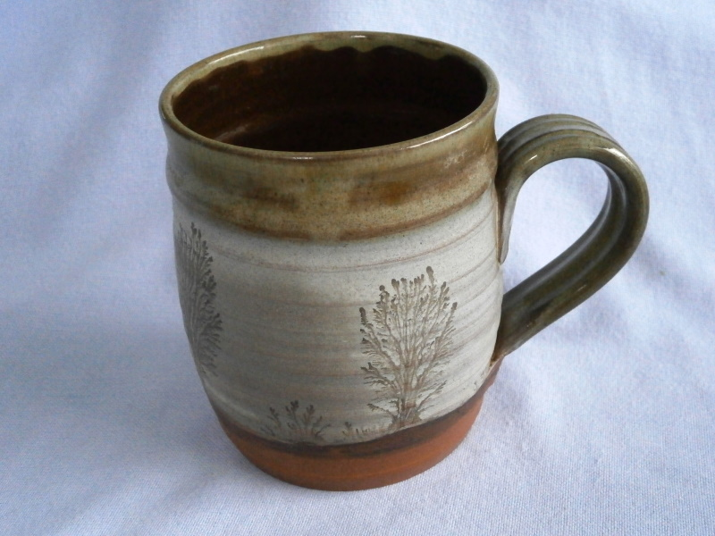 Mike Pollard Devon Studio Pottery Mochaware Mug