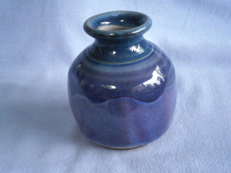 Rupert Blamire Blue & Violet Studio Pottery Posy Vase