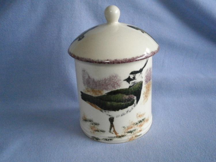 Jane & Stephen Baughan, Oxfordshire Hand Painted Bird Pot