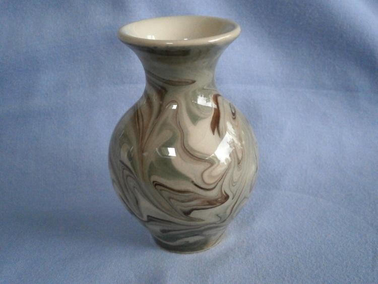 Stephen Parry-Thomas Norfolk Studio Pottery Marbled Posy Vase