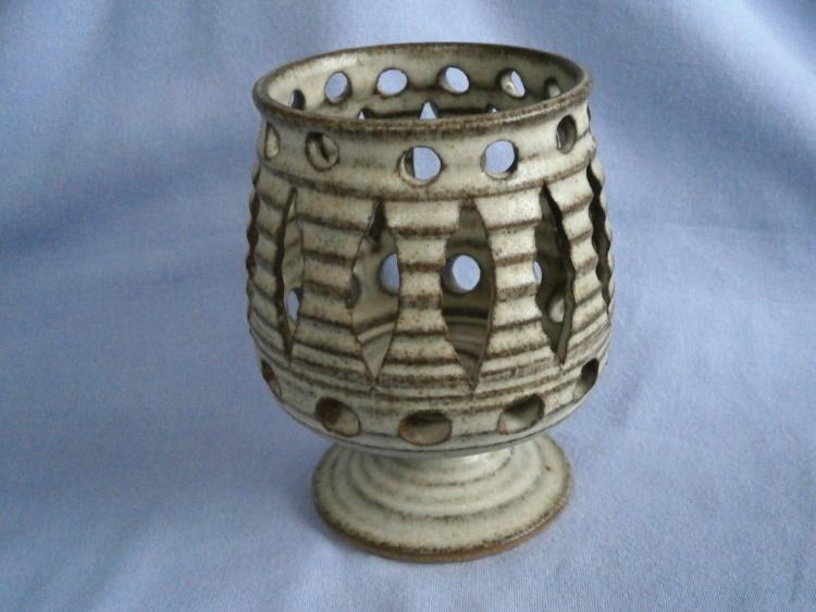 Broadstairs Studio Pottery Stoneware Votive / Tealight Candle Holder