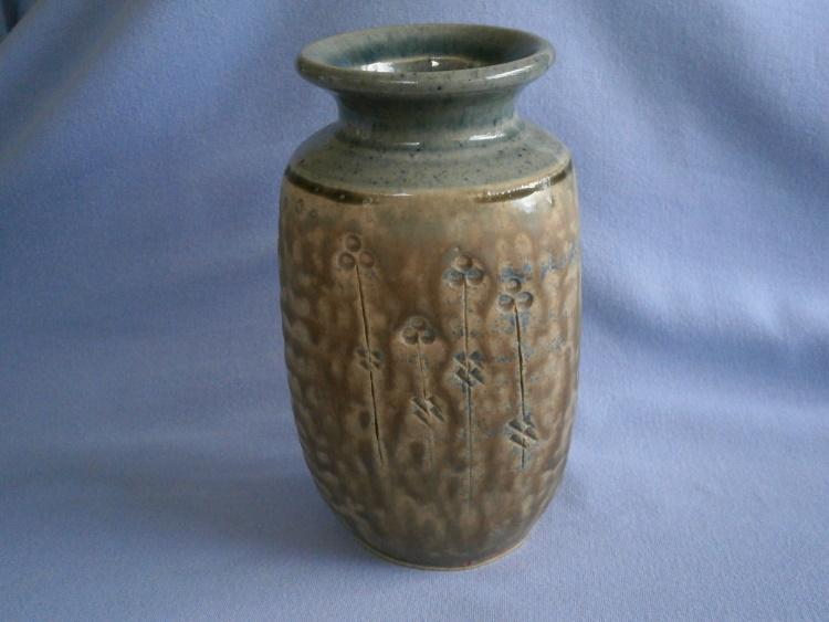John Vasey, Cornish St Agnes Pottery Stoneware Vase